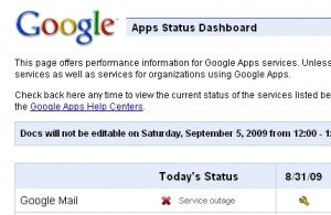 Gmail Outage